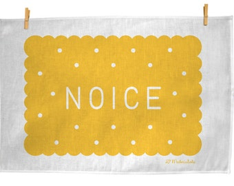 That's Noice - 100% Linen hand screen printed teatowel