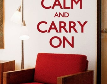 "Keep calm and carry on decal/ Keep Calm sticker 23""x40"""