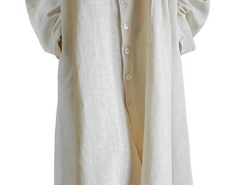 Soft Hemp Long Dress Coat (JNN-067-02)
