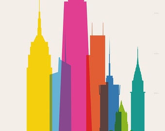 Shapes of NYC art print