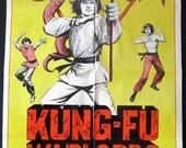 Kung Fu Warlords - Vintage Kung Fu Movie Poster - original