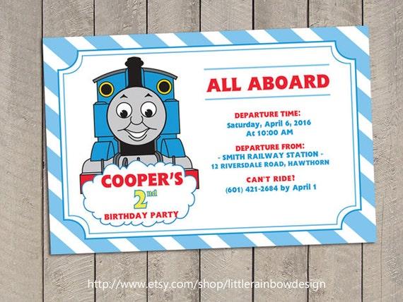 Thomas Train Invitation / Thomas Invitation / Thomas Birthday