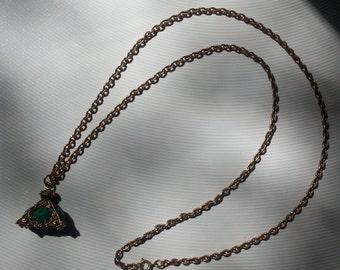 Vintage Emerald Green Pendent Necklace