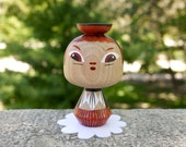 Little Girl - Wooden Kokeshi - Hand painted