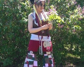 Patchwork Pixie Bloomers dance pants upcycled ooak hippie gypsy festival flow bell bottom wide leg yoga