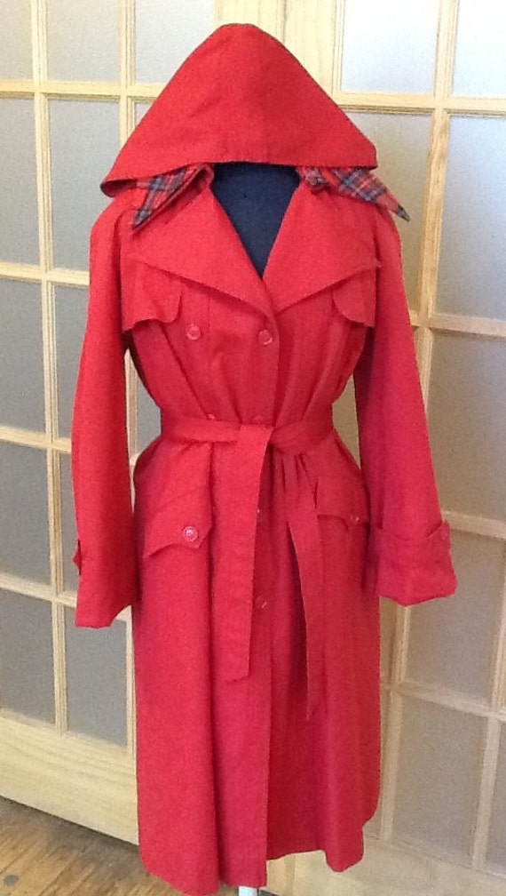 Images of Hooded Trench Coat Womens - Reikian