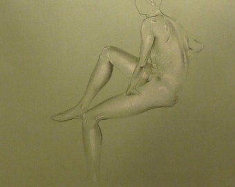 Drawing with charcoal - live model