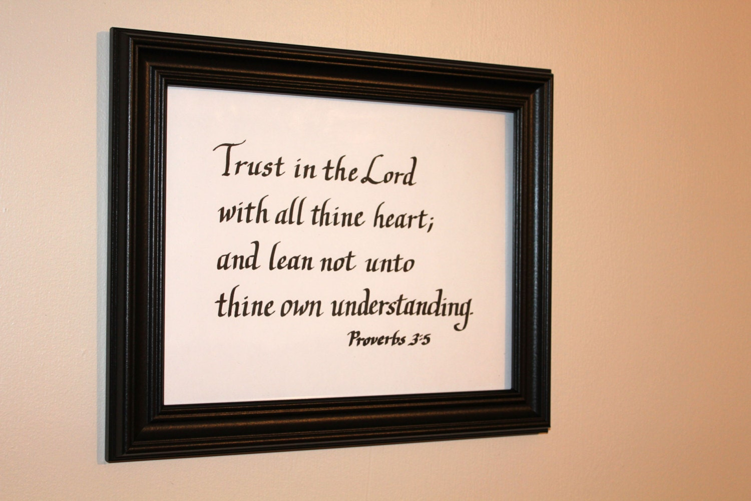 Items similar to calligraphy of bible verse proverbs