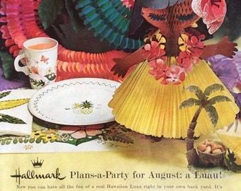 Vintage Hallmark Ad, Paper Ephemera taken from a 1961 McCall's Magazine.