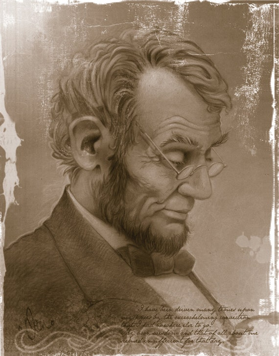 Items similar to Abraham Lincoln: Canvas Print of the ...