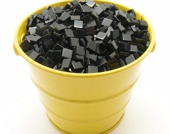 5mm Opaque Black Mosaic Tiles
