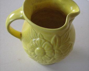 Ceramic - Flower Design -  Versatile jug/vase /MEMsArtShop.