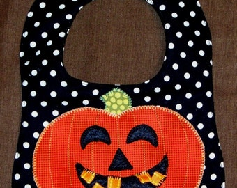 Boutique Halloween, Thanksgiving, and Christmas Holiday Baby Ribbon  BIBS SEWING PATTERN/ Fall and Winter Holiday Busy Bib Pattern