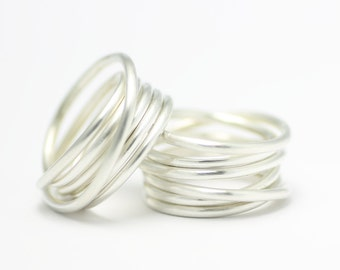 Coiled ring - silver