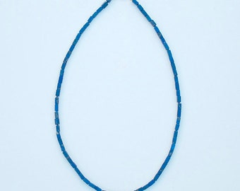 Necklace with Lapis Lazuli, 20 inches