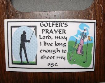Golfers Prayer Refrigerator Magnet (Business Card Size)