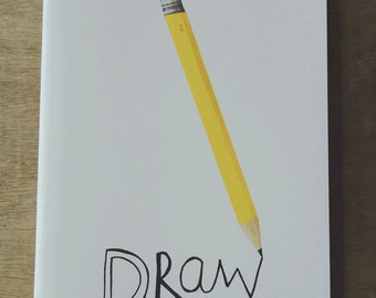 Set of 2 Illustrated Notebooks: DRAW and PAINT