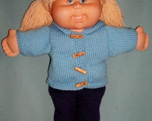 Lorene PDF KNITTING PATTERN for Doll Clothes to suit Cabbage Patch Kids Dolls 16 in size