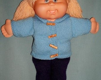 Knitting Patterns For Cabbage Patch Dolls : Lorene PDF KNITTING PATTERN for Doll Clothes to suit Cabbage Patch Kids Dolls...