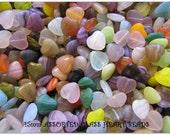 Studio Destash - 20 Glass Heart Beads 15mm -  Wonderful Mixed Colors