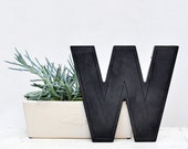 "vintage movie marquee letter ""W"""