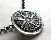 Compass Fine Silver Necklace -Made to Order
