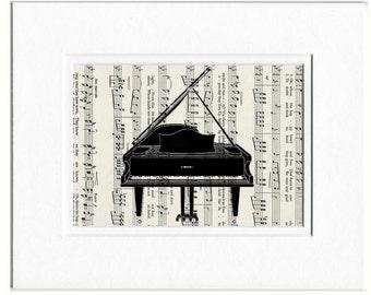 Piano book page print