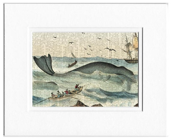 whaling scene print