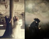Spellbound - Black Dracula's Bride Gown by Kambriel - Custom Made for You