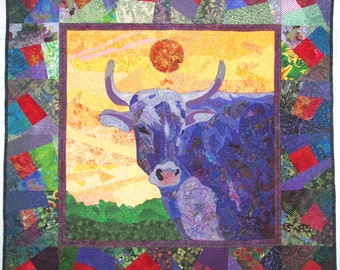 Purple Cow - Quilted Wall-hanging