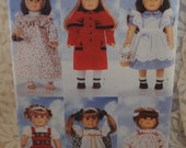 Butterick 4699 - Clothes for American Girl & Other 18 Inch Dolls - Beautiful Doll Outfits - Alice in Wonderland - Samantha, Kirsten - UNCUT