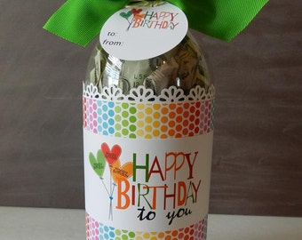 Birthday Gift Idea / Cash for Birthday Gifts / Soda Bottle Label and Gift Tags / Bottle of Cash for Birthday Gifts