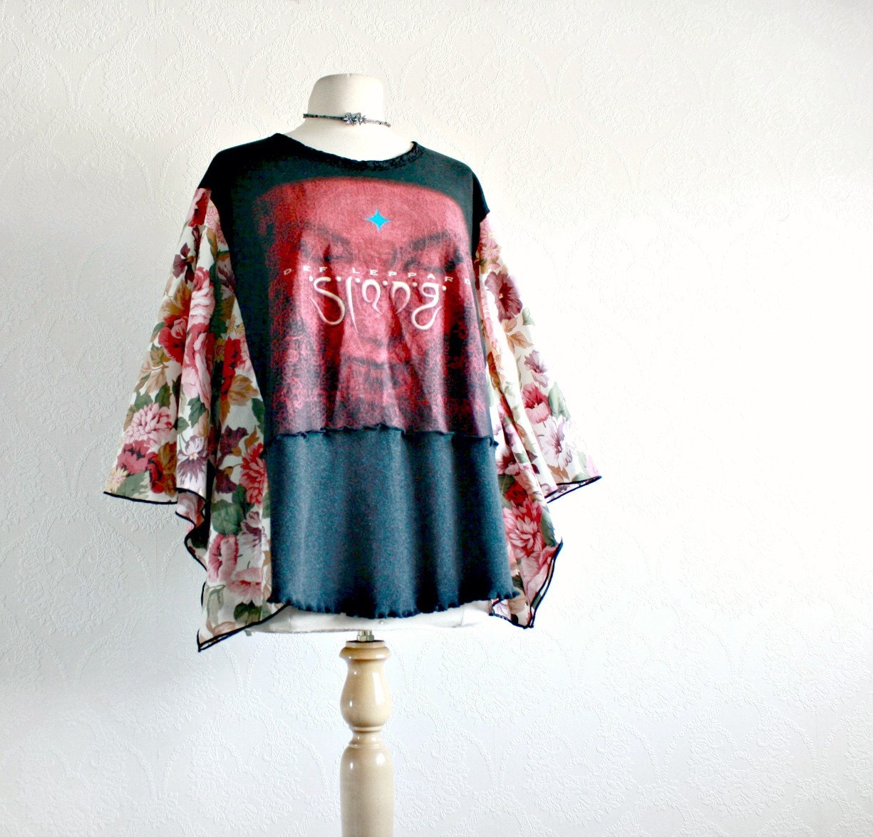 Plus Size 1x 2x Def Leppard Shirt Upcycled Clothes Concert