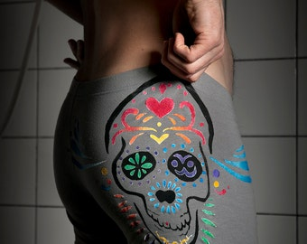 Men's boxershort 'Day of the dead' with Mexican skull, Dia de los muertos