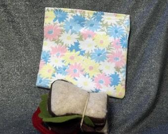 Reusable Sandwich Bag, Summer Flowers Print