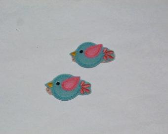 Love Bird Felt Clippies     ---READY TO SHIP---