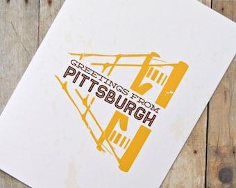 Greetings from Pittsburgh Bridge Card