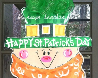 Lucky Leprechaun Door Hanger - Bronwyn Hanahan Original