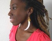Boho Luxe Tusks- Statement earrings