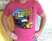 Midnight Rambler 1980s pink hot rod vintage tee