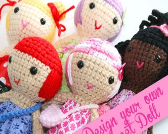 Custom handmade doll, Your design, Crochet doll, cute doll, rag doll, amigurumi doll,