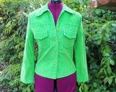 1970s Corduroy Jacket Green Jacket 70s Green Corduroy Jacket Corduroy Blazer 70s Corduroy Jacket 1970s Blazer 70s Blazer Bohemian Size Small
