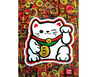 Lucky Cat 5x7 Limited Edition Print