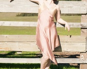 Seashell Shimmery Silk Dress--READY TO SHIP--size medium