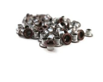 Copper Eyelets, 1/8 inch, Brushed Copper, Scrapbooking, 200 Eyelets, Round Metal, Eyelets, Copper Round, Scrap Booking, 1/8 Copper Eyelet