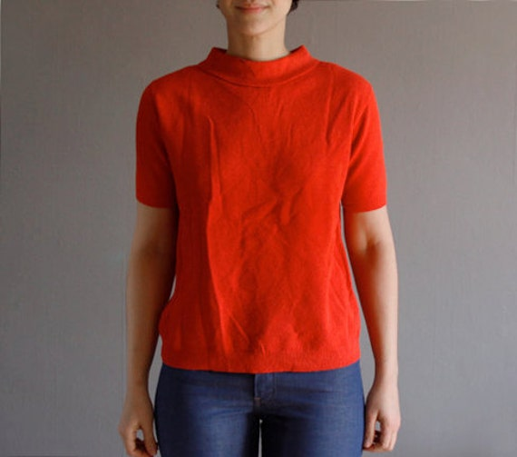 SALE . 1960's carrot knit top