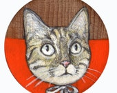 original tiny artwork on wood. Wim