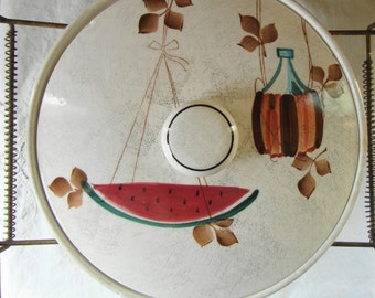MID CENTURY Jamican By Royal Sealy Chafing Dish Casserole Warming Dish Hand Painted Japan Buffet Serving Covered Dish Mid Mod Serving