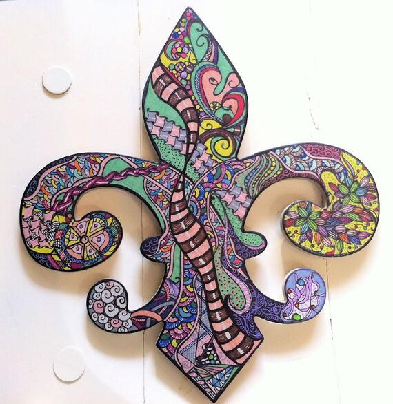 Fleur De Lis Wall Art New Orleans Lily New Orleans