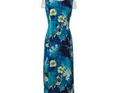 Vintage Blue Floral Sundress